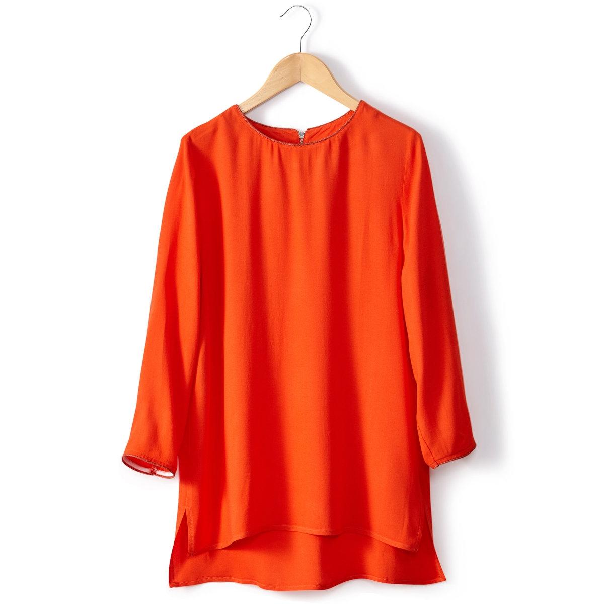Блузка с вырезом-лодочкой<br><br>Цвет: красный<br>Размер: 38 (FR) - 44 (RUS)