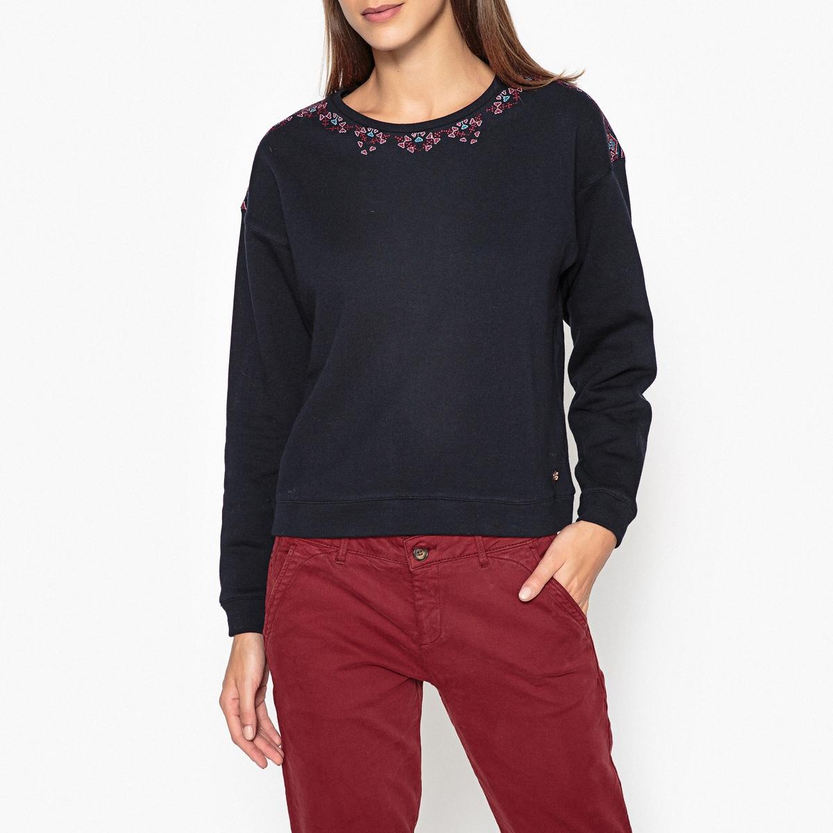 Свитшот с вышивкой ABBY рубашка harris wilson harris wilson ha019emqpi73
