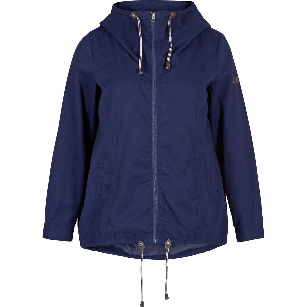БлузонБлузон ZIZZI . 65% полиэстера, 35% хлопка. Красивая и очень практичная куртка для весны, наружные карманы, завязки, внутренний карман и капюшон. Застежка на молнию спереди. Идеальная куртка для весны.<br><br>Цвет: темно-синий<br>Размер: 50/52 (FR) - 56/58 (RUS).54/56 (FR) - 60/62 (RUS).46/48 (FR) - 52/54 (RUS)