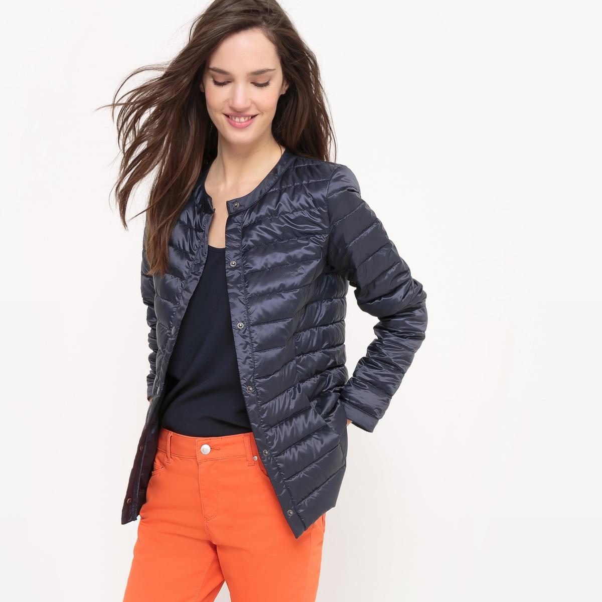 Куртка стеганая тонкая с натуральным наполнителем