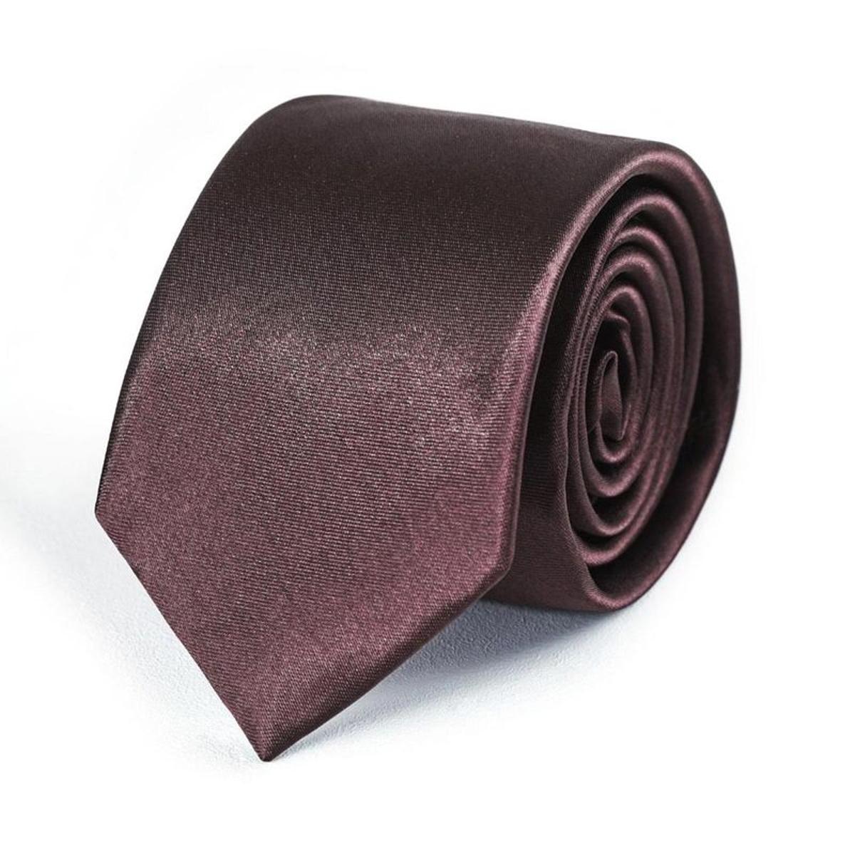 Cravate Slim unie - Fabriqué en europe