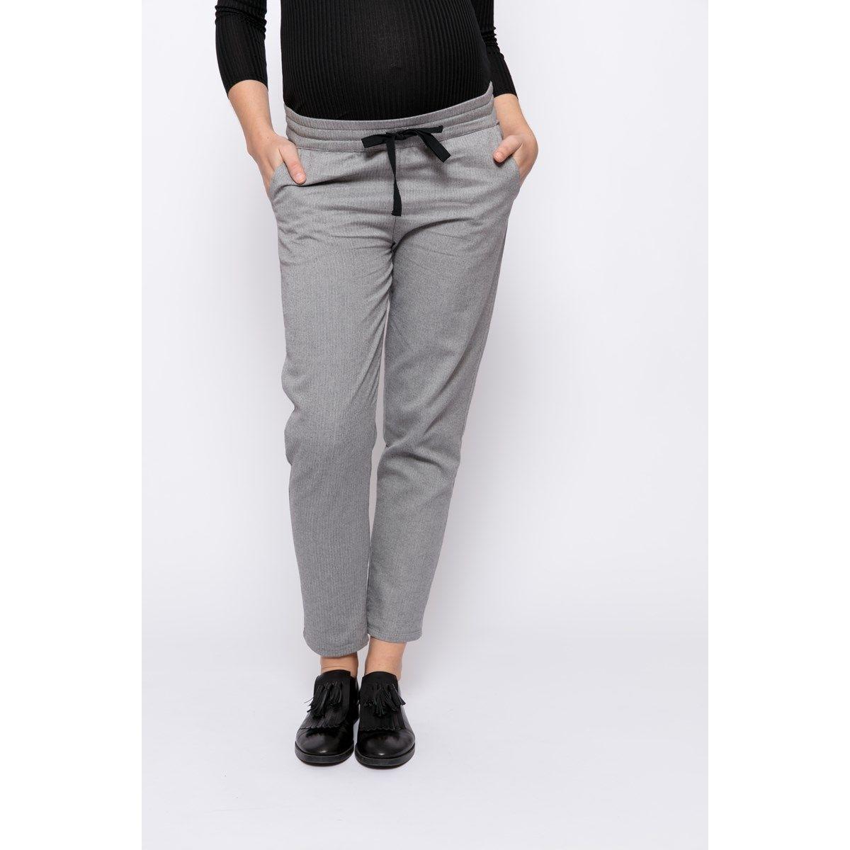Pantalon pendant après grossesse gris confortable et chic
