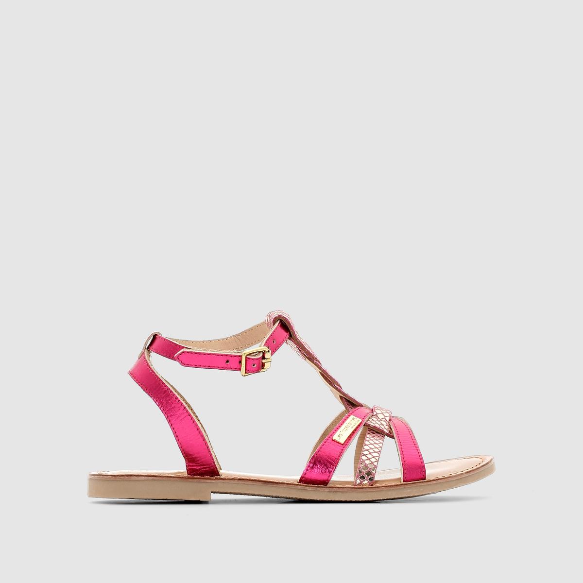БосоножкиНезаменимы в гардеробе каждой модницы : естественность с джинсами, динамичность с леггинсами, элегантность с юбкой… На пляже, в городе, на вечеринке : «Les Trop?ziennes» знает толк в модной обуви !<br><br>Цвет: розовый<br>Размер: 38