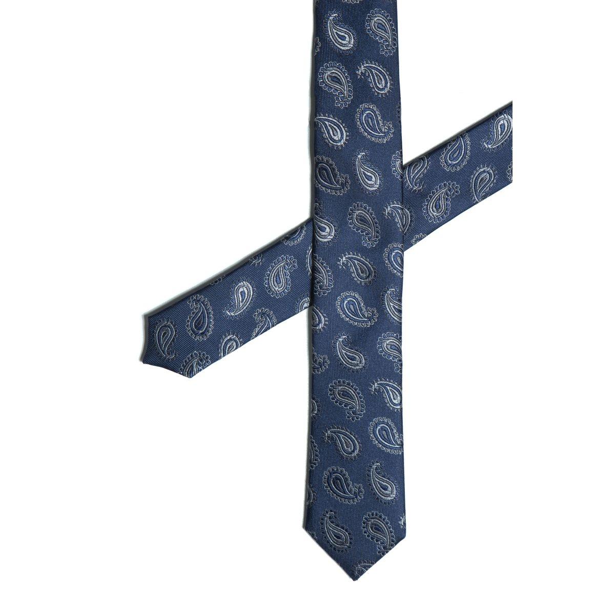 cravate soie dessins palmettes