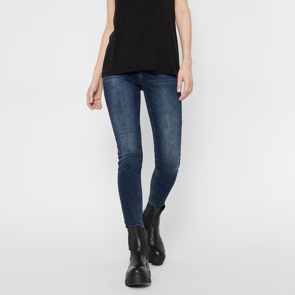 Фото - Джинсы LaRedoute Скинни покрой 78 XS синий джинсы laredoute скинни длина 30 s черный