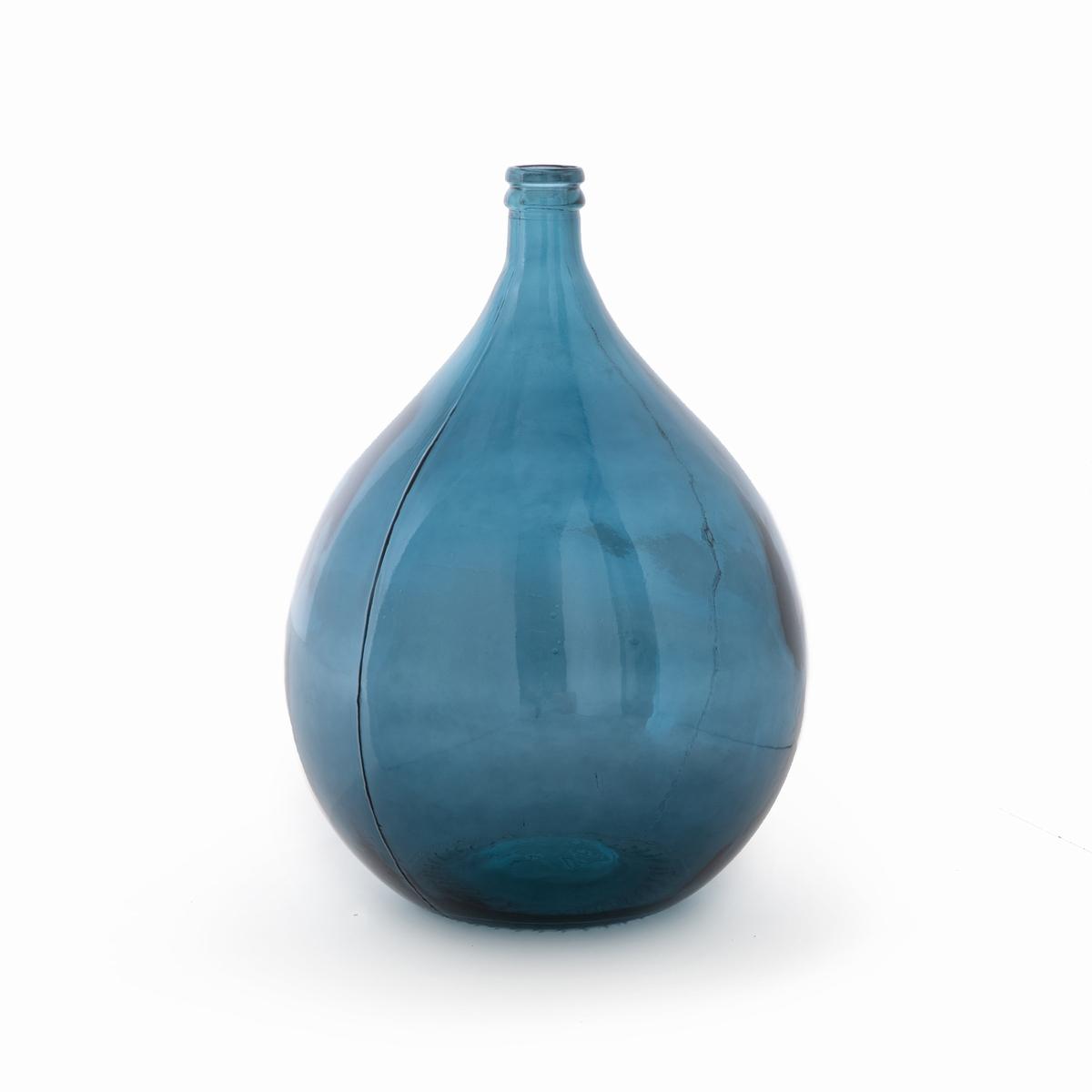 Ваза-бутыль La Redoute Из стекла Izolia единый размер синий