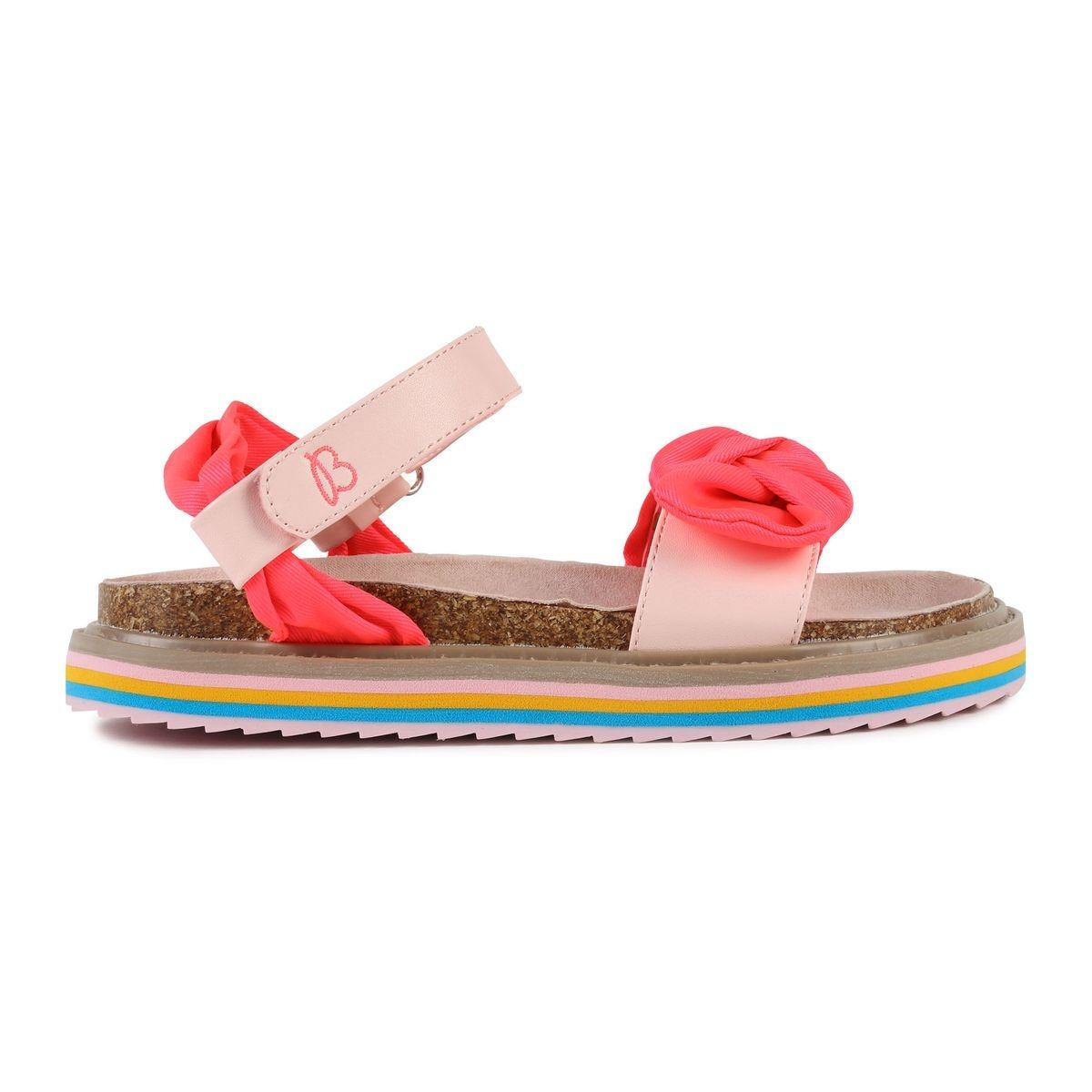 Sandales en textile avec noeud