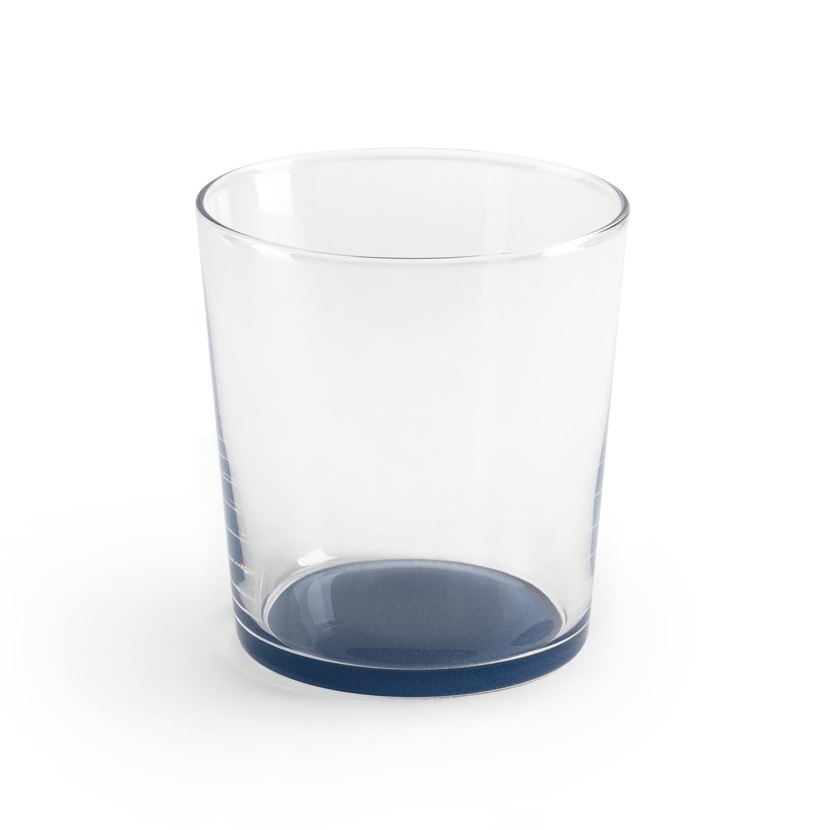 Комплект из бокалов с La Redoute Цветным дном LASIALE единый размер синий этажерка la redoute с полками remia единый размер белый