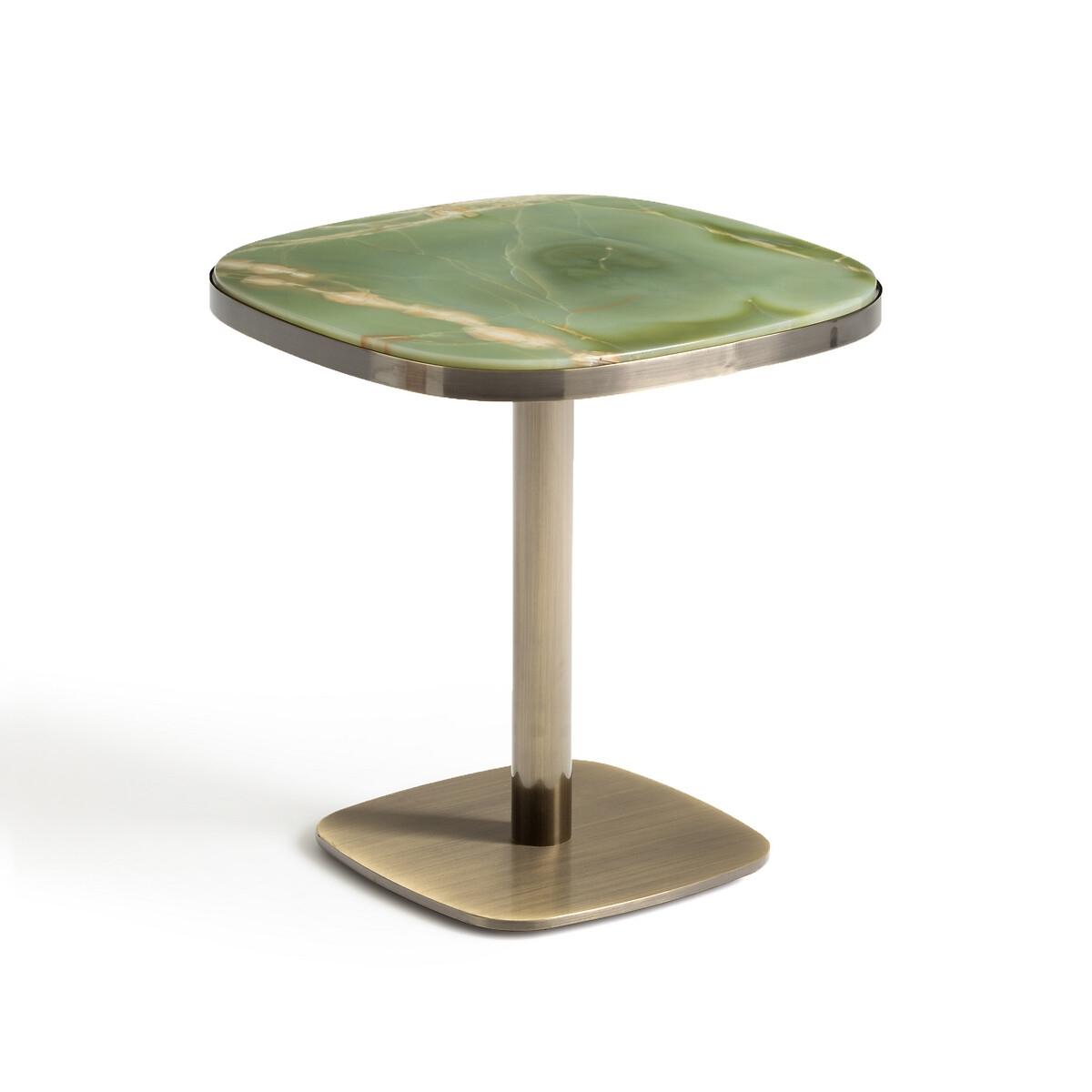 Столик LaRedoute Круглый из нефрита Lixfeld единый размер зеленый