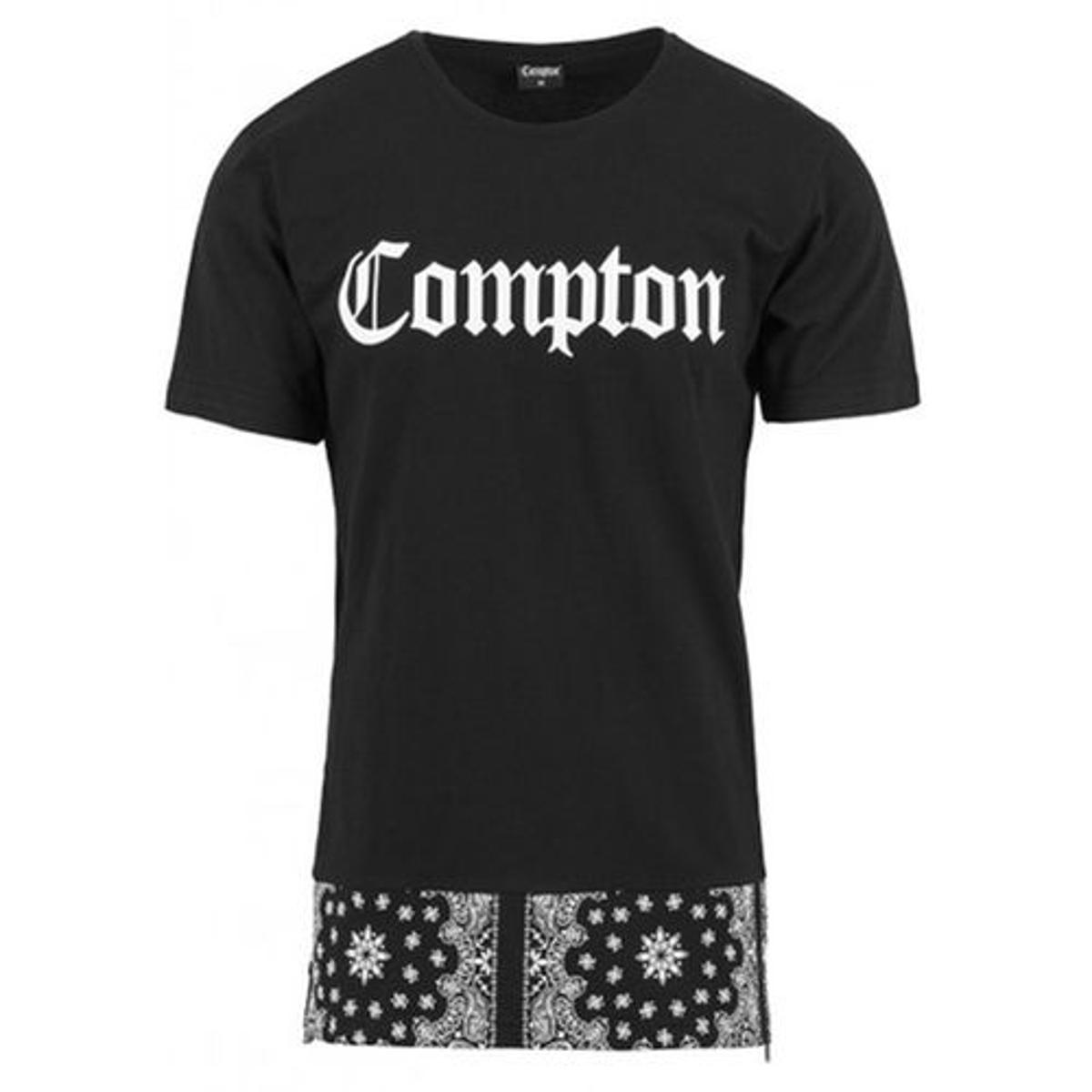 T-shirt Long Compton Bandana x Mister Tee Noir NWA
