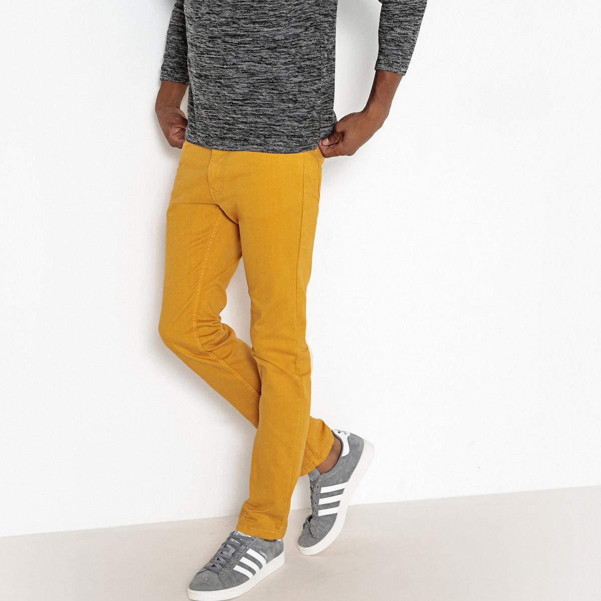 Джинсы La Redoute Узкие 44 (FR) - 50 (RUS) желтый брюки la redoute узкие дудочки с жаккардовым рисунком 50 fr 56 rus черный