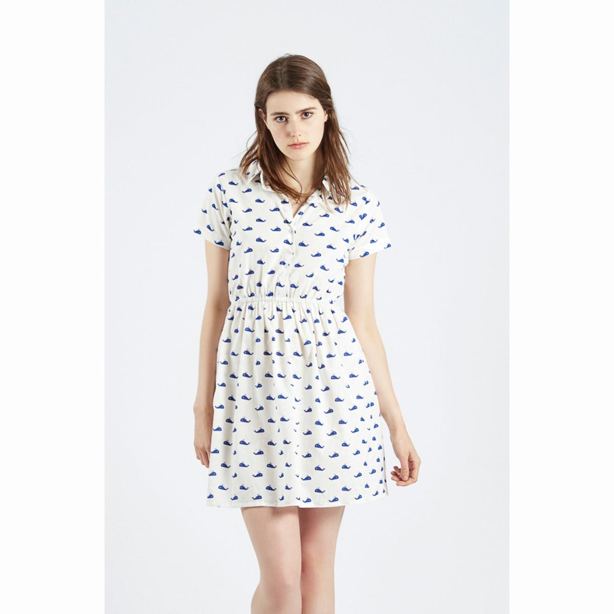 Платье с рисунком Vestido AslaugСостав и описаниеМатериалы : 100% хлопокМарка : Compania FantasticaМодель : Vestido AslaugУходСледуйте рекомендациям по уходу, указанным на этикетке изделия.<br><br>Цвет: белый наб.рисунок<br>Размер: S