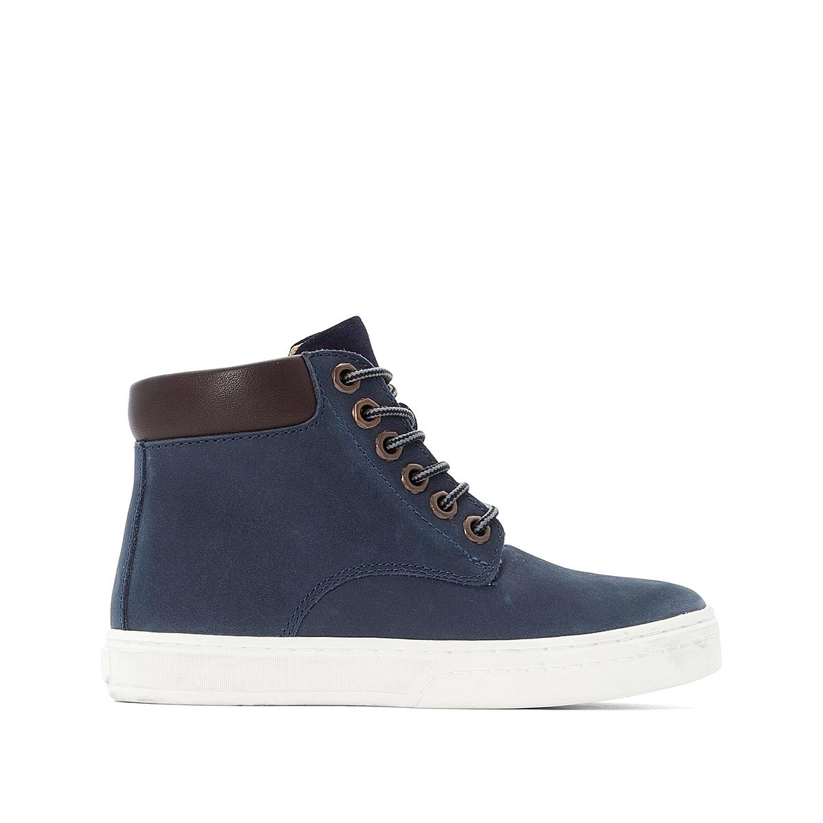 Ботинки LaRedoute Кожаные на шнуровке 26-39 32 синий кеды laredoute кожаные на шнуровке v10 40 белый