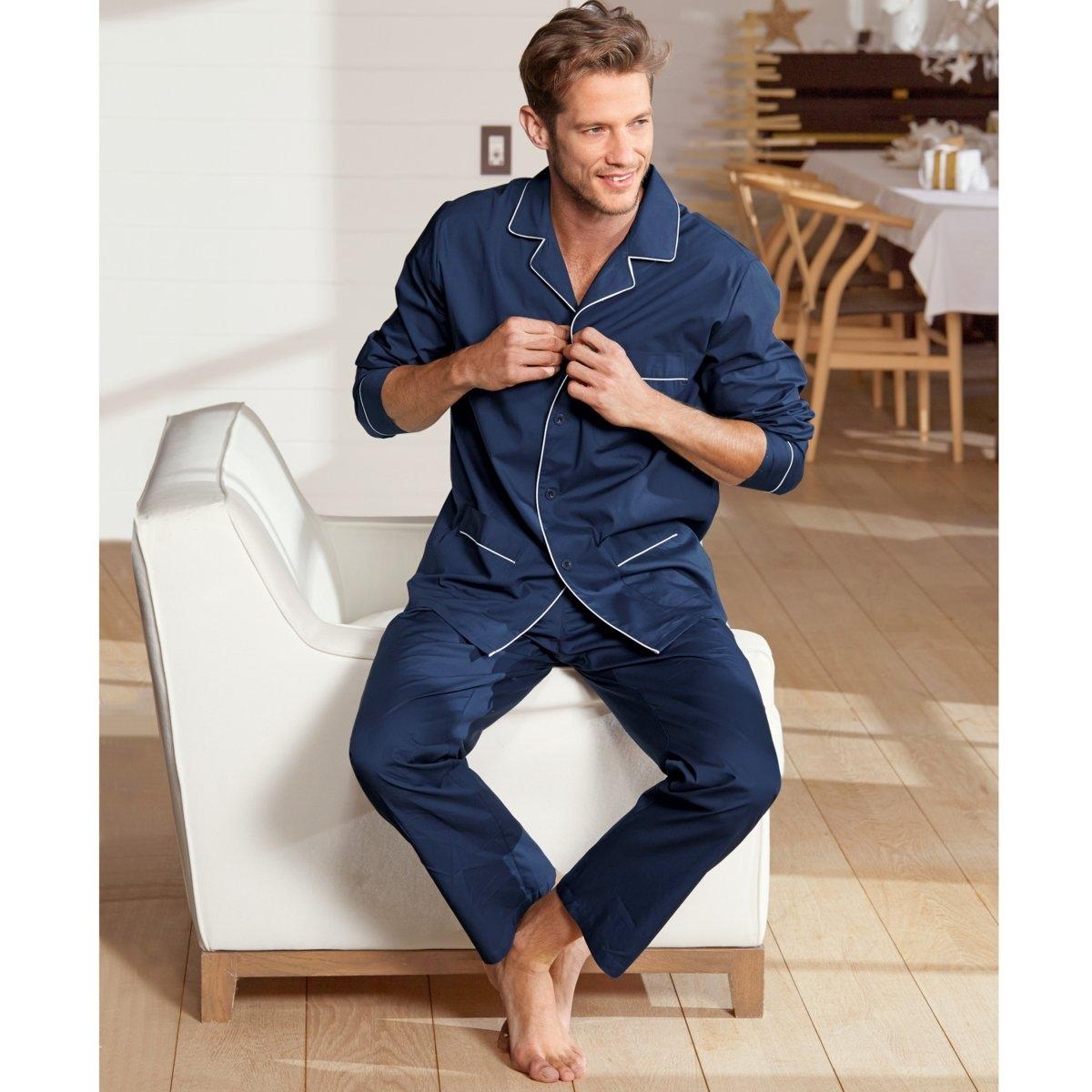 Пижама с пиджачным воротником,100% хлопка