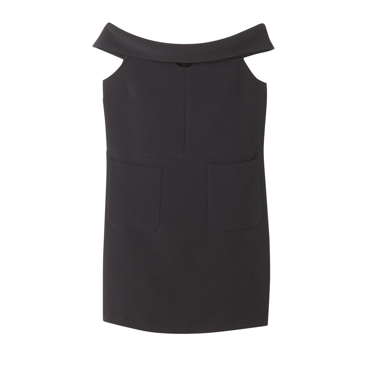 Платье короткое, без рукавовДетали •  Форма : прямая  •  короткое  •  Без рукавов     •  Без воротника Состав и уход •  5% эластана, 95% полиэстера  •  Следуйте советам по уходу, указанным на этикетке<br><br>Цвет: черный<br>Размер: S.XS.M