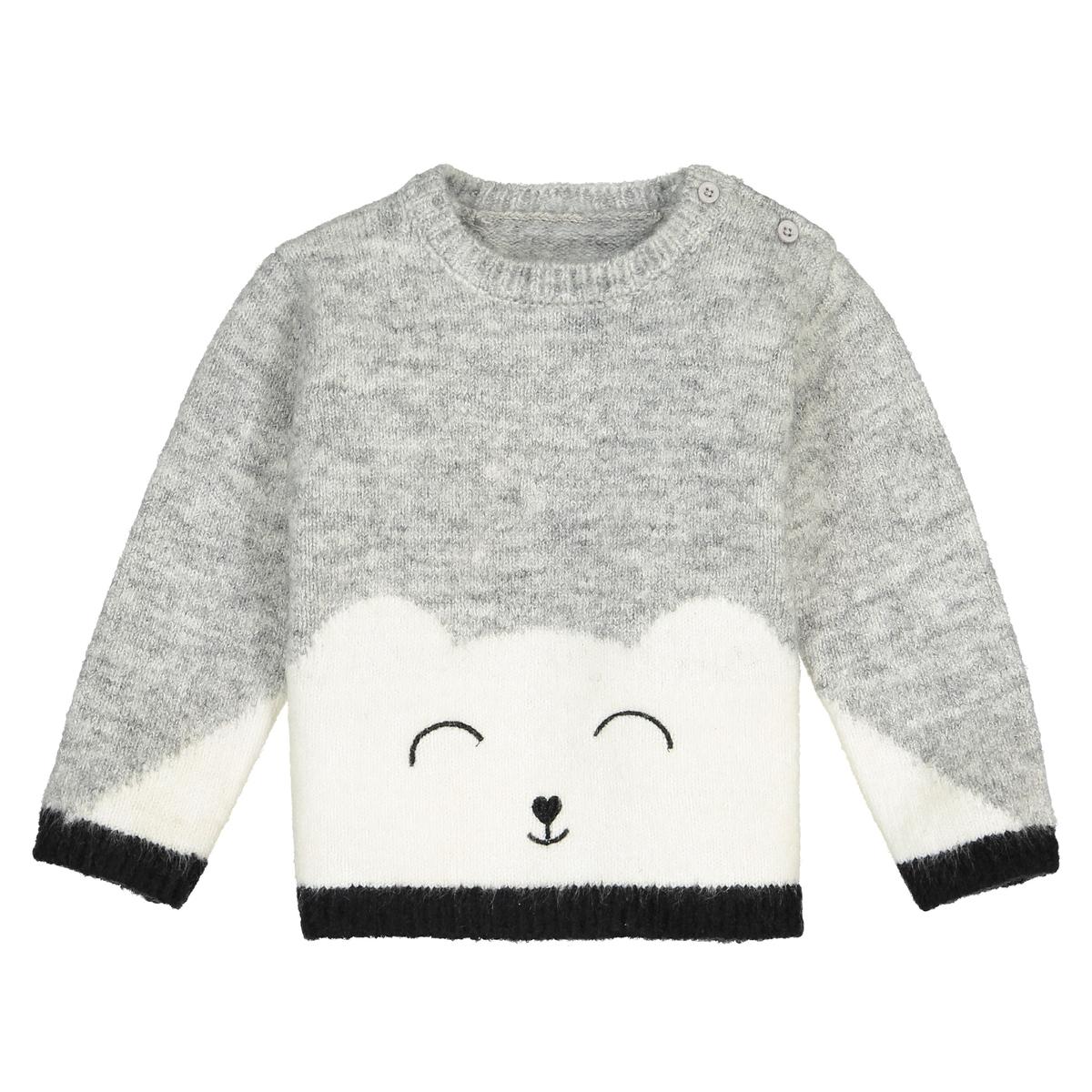 Пуловер с рисунком медведь из тонкого трикотажа, 1 мес. - 3 года комбинезон с шортами с тропическим рисунком на 1 мес 3 года