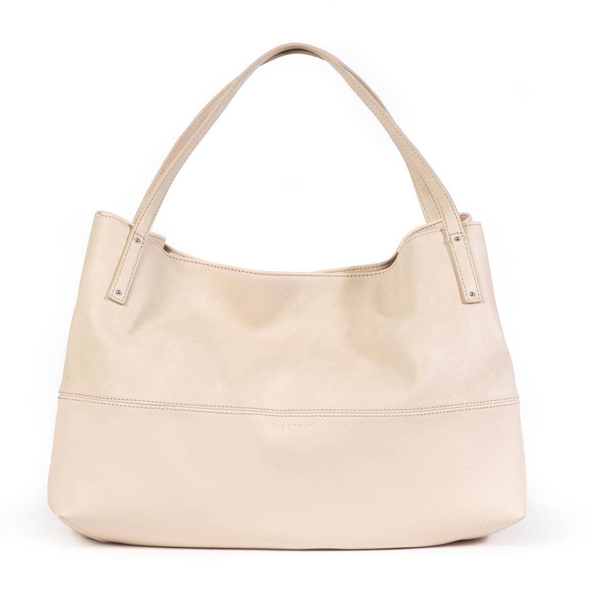 Сумка через плечо TracyОписание:Изящную сумку Esprit можно носить как в руках, так и на плече !Состав и описание : •  Материал : верх из полиуретана                        Подкладка из полиэстера. •  Марка : Esprit •  Модель : Tracy •  Размер : 28 x 40 x 18 см •  Застежка : на клипсу1 внутренний карман Можно носить через плечо<br><br>Цвет: бежевый,черный