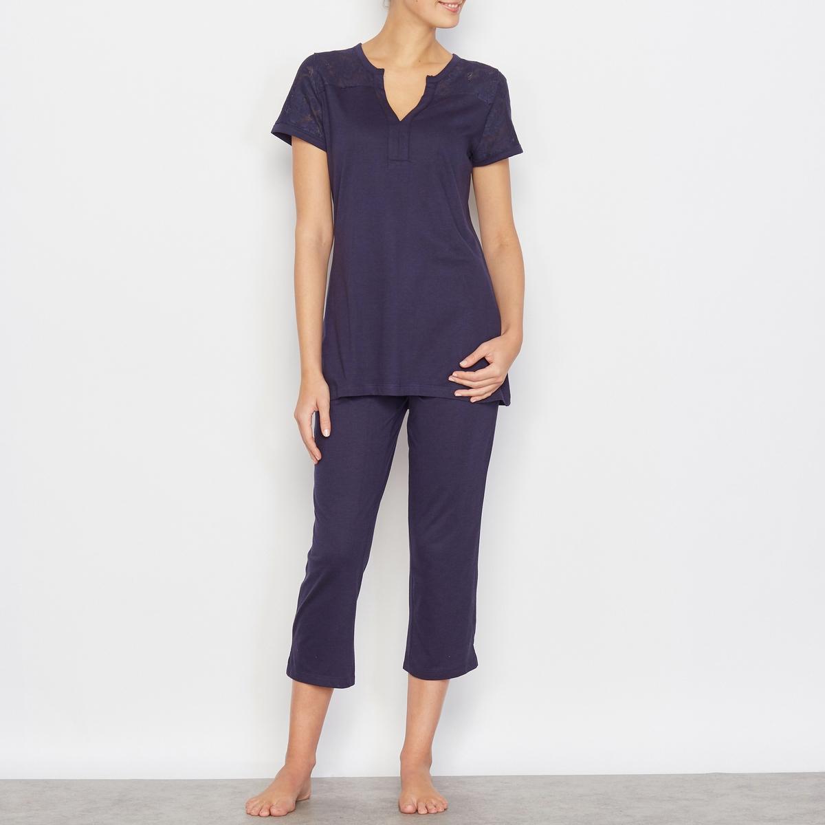 Пижама с укороченными брюками
