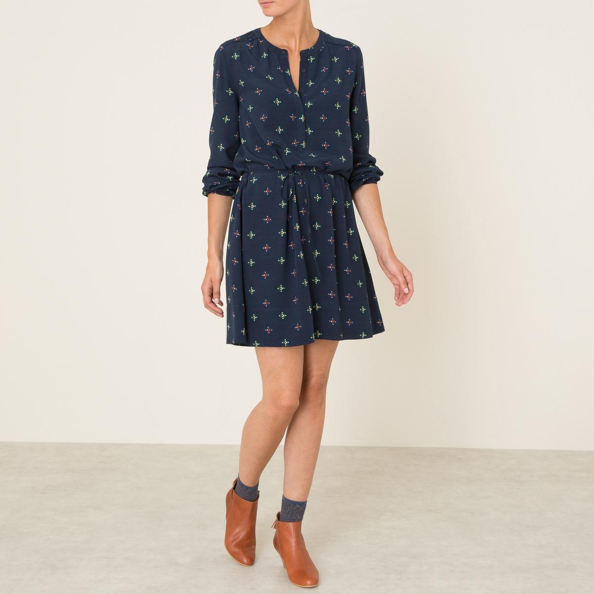 Платье FLAVIEСостав и описание :Материал : 100% вискозаМарка : ATHE VANESSA BRUNO<br><br>Цвет: темно-синий