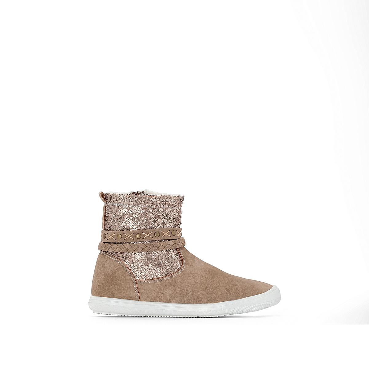 Ботинки на меховой подкладке с пайетками 26-35 от La Redoute Collections
