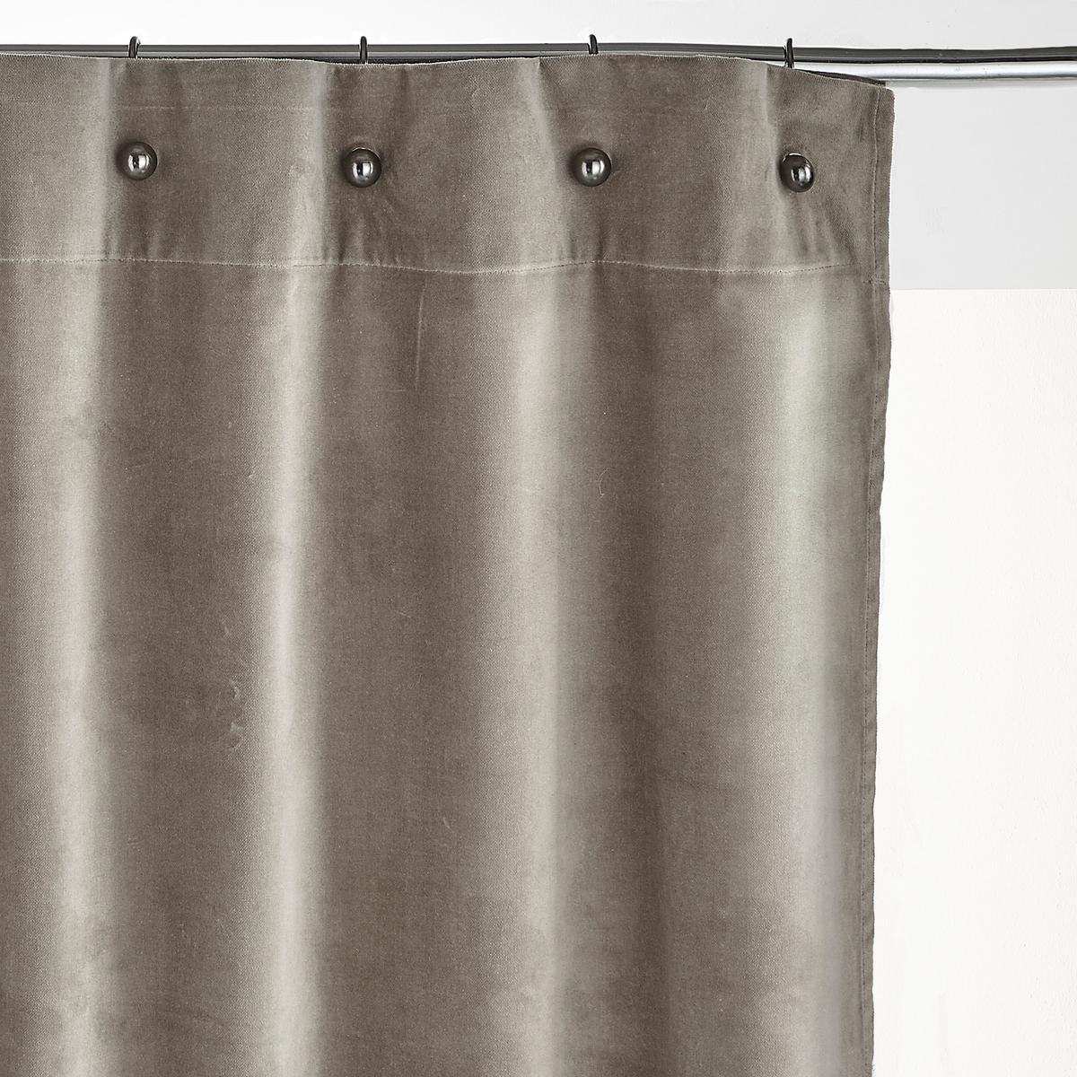 Штора из велюра с маленькими люверсами LavezziШтора Lavezzi. Из роскошного мягкого бархата, натуральный хлопок. Роскошная ткань, великолепная расцветка и оригинальная отделка в виде маленьких люверсов, специально созданных для крючков Copalme, представленных на нашем сайте. Помимо оригинального крепления, маленькие люверсы позволяют легко повесить шторы, не снимая карниз, по сравнению со шторами с обычными люверсами.    Материал :- Из приятного на ощупь велюра, 100% хлопокОтделка : - Подшитые края, штора готова к использованию- Маленькие люверсы диаметром 1 см цвета серый металлик, сочетаются с крючками Copalme, представленными на нашем сайтеУход : - Машинная стирка при 40 °СРазмеры :- Ширина 140 x Высота 180 см- Ширина 140 x Высота 220 см- Ширина 140 x Высота 260 см- Ширина 140 x высота 350 cм  ВНИМАНИЕ: Цвет товара соответствует картинке.<br><br>Цвет: светло-синий,Серо-голубой,темно-коричневый<br>Размер: 140 x 350  см.140 x 220  см.140 x 260  см