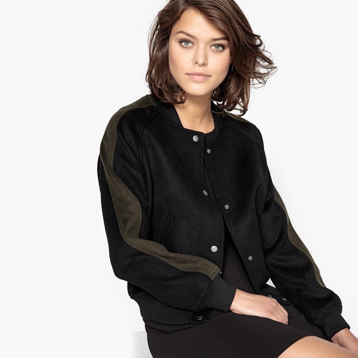 Блузон в стиле тедди из шерстяного драпа блузон с капюшоном в стиле тедди 3 12 лет