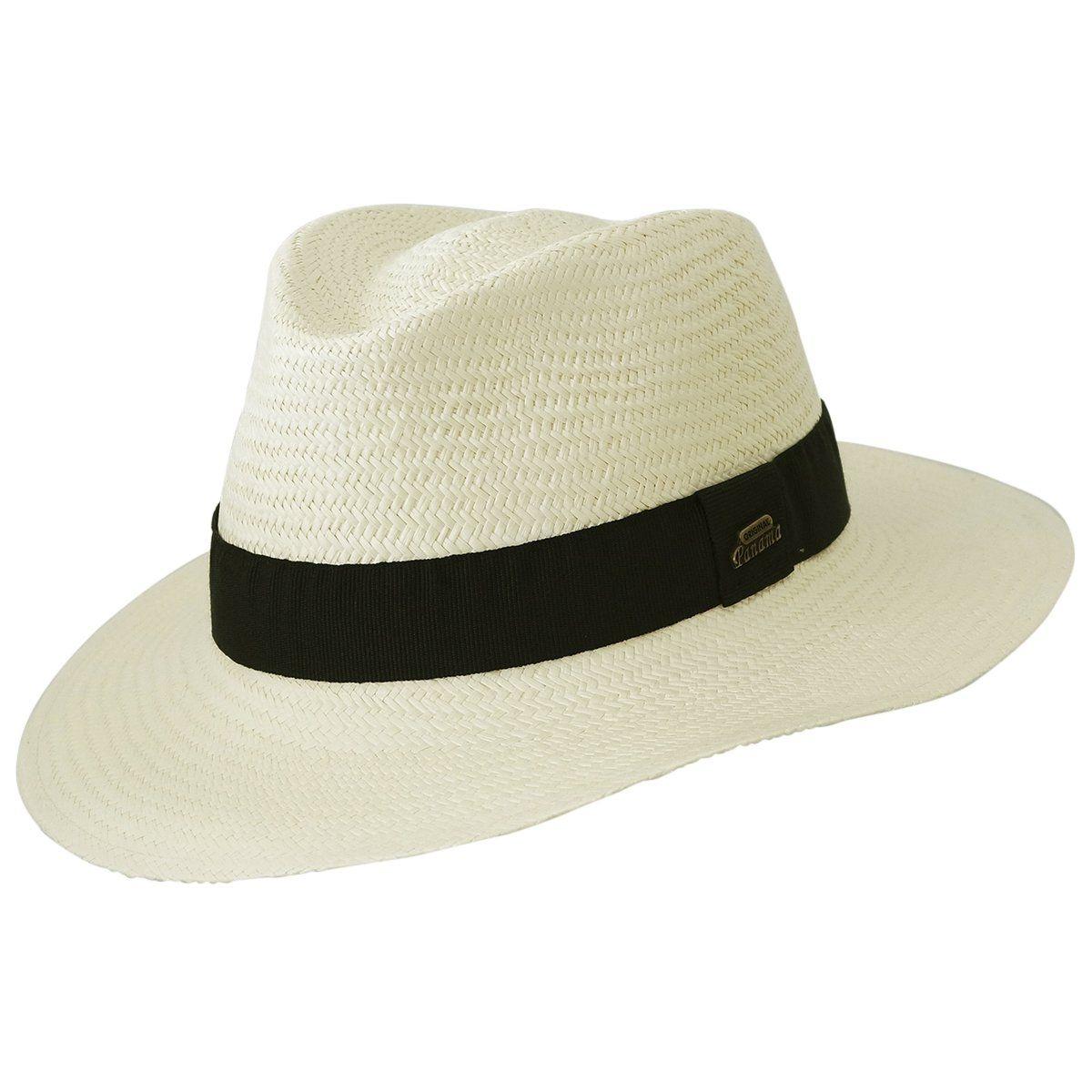 Véritable chapeau panama naturel