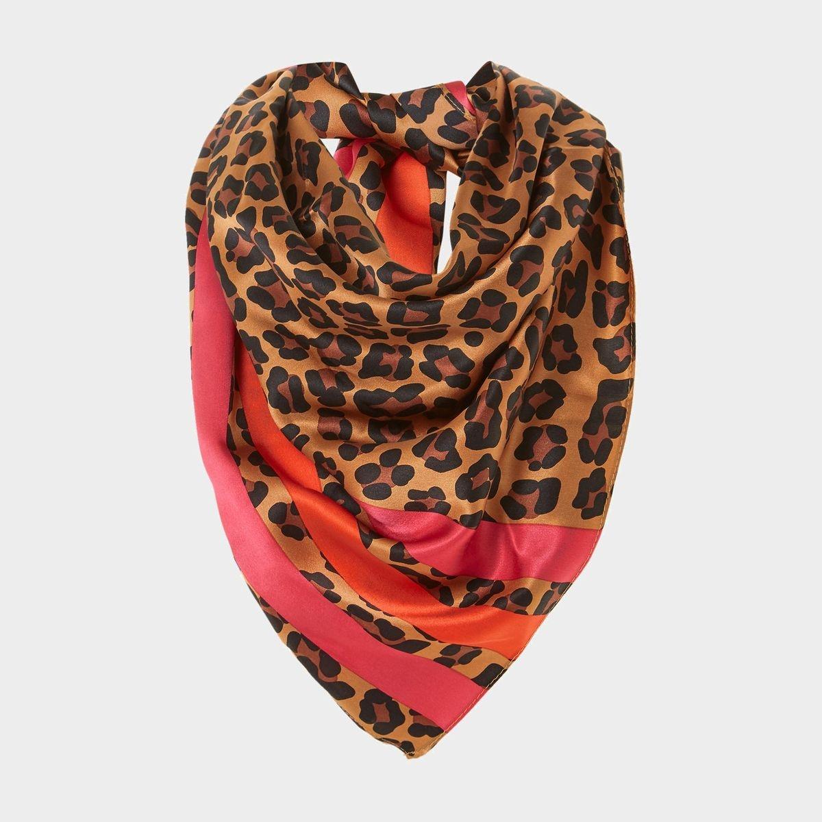 Foulard à rayures et imprimé léopard - LULABELLA