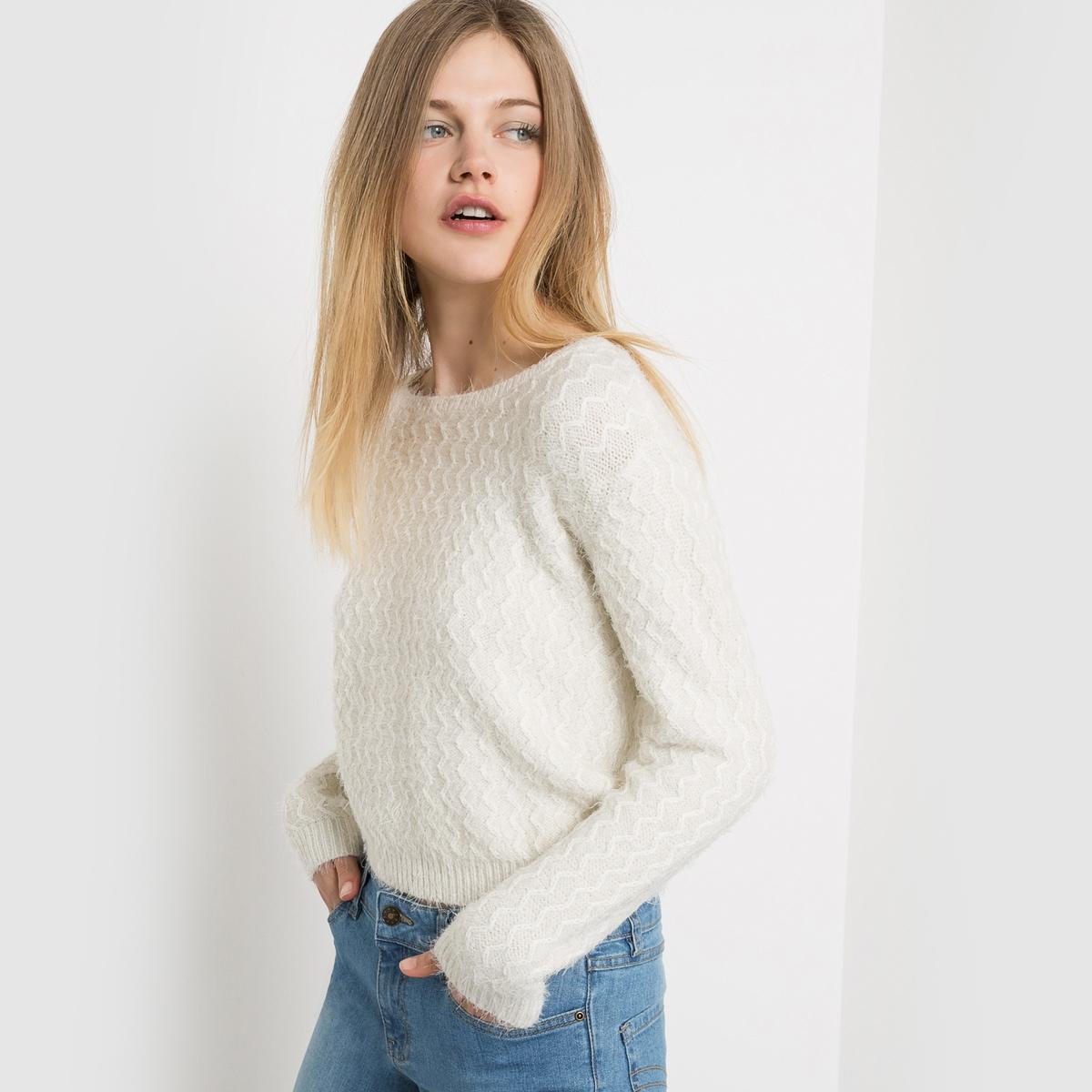 Пуловер с длинным ворсом