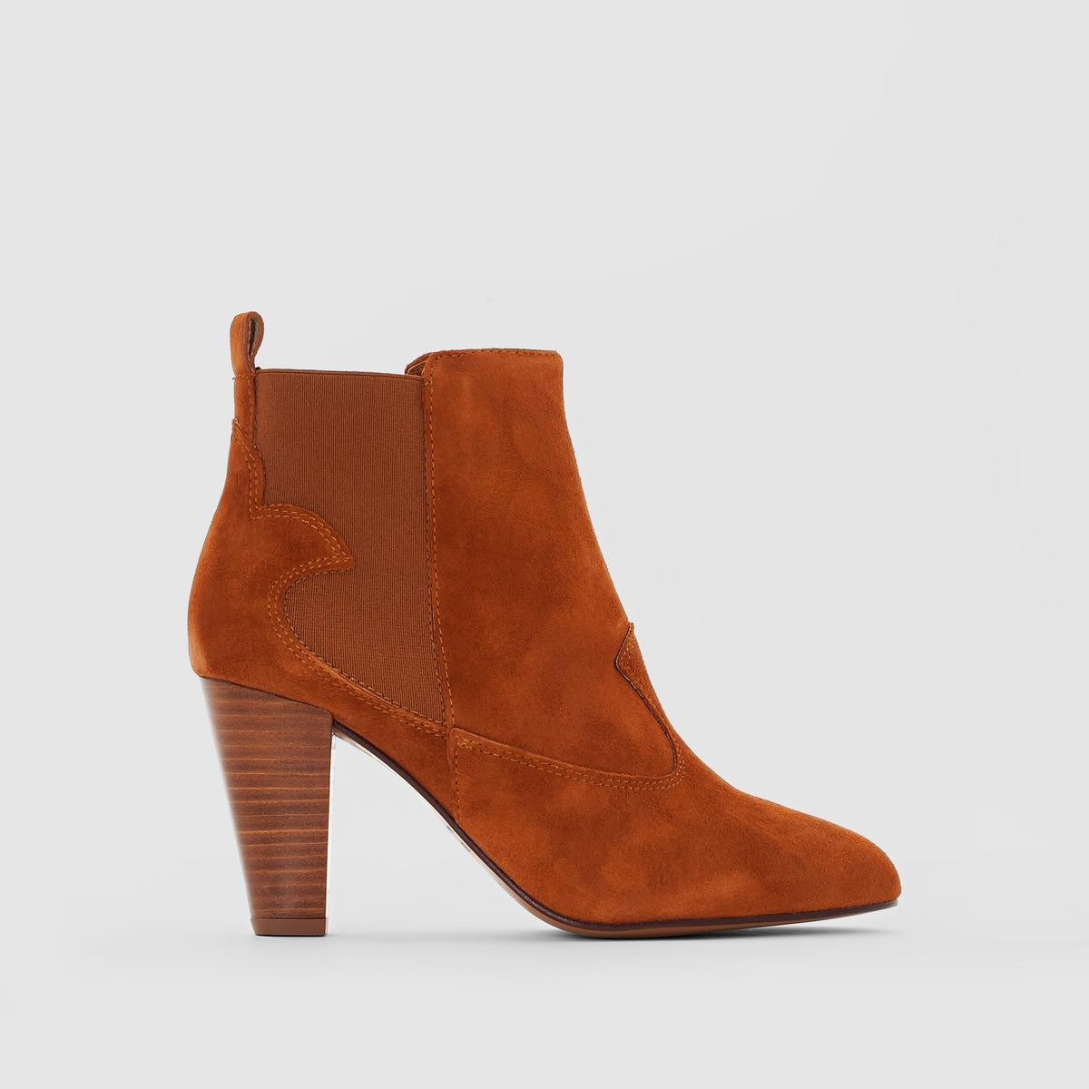 Ботильоны кожаные на высоком каблуке Daisy цены онлайн