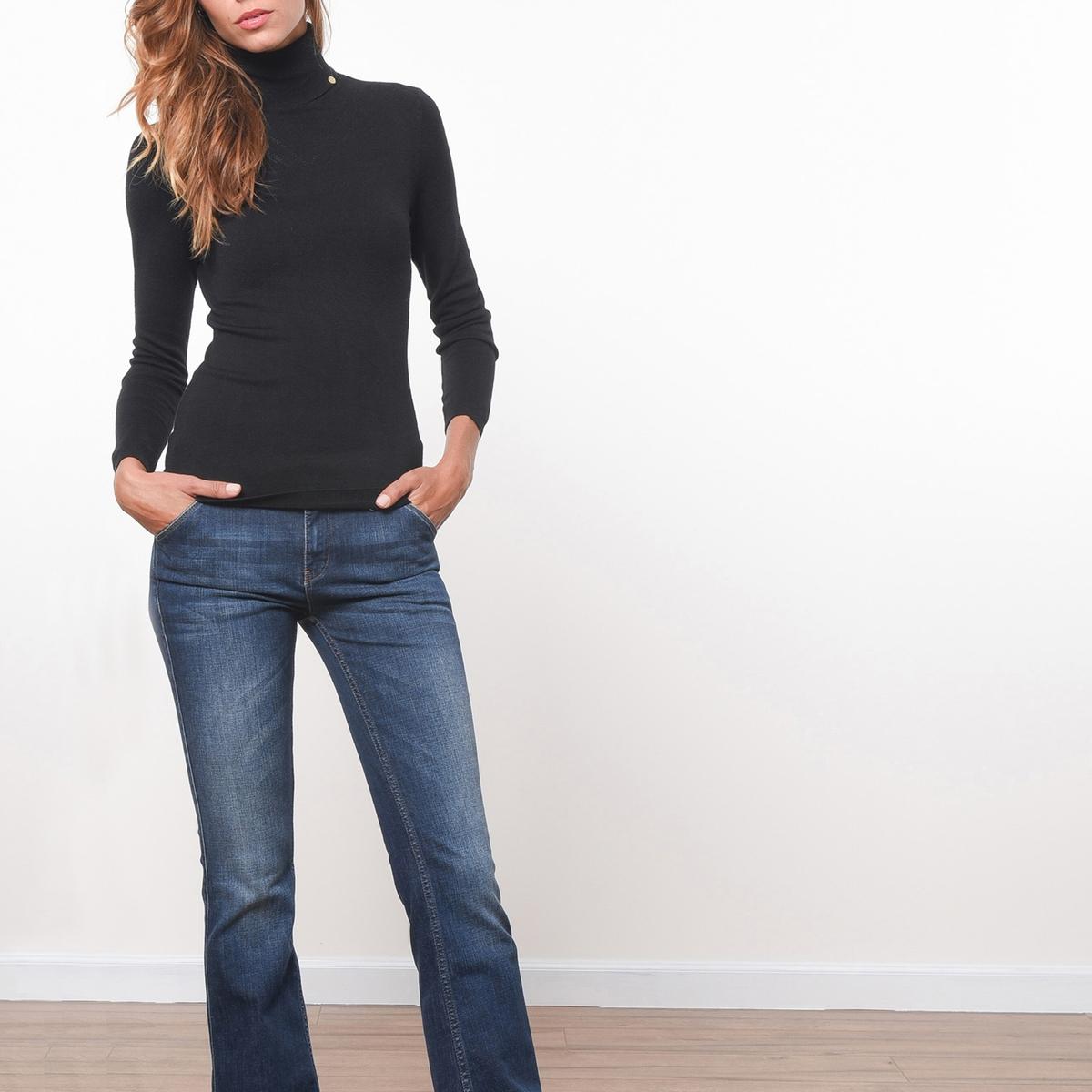Пуловер с высоким воротникомПуловер JOE RETRO. Воротник хомут. Длинные рукава.           Состав &amp; ДеталиМатериал            81% вискозы, 17% полиамида, 2% эластана      Марка            JOE RETRO          Уход     Следуйте рекомендациям по уходу, указанным на этикетке изделия<br><br>Цвет: черный