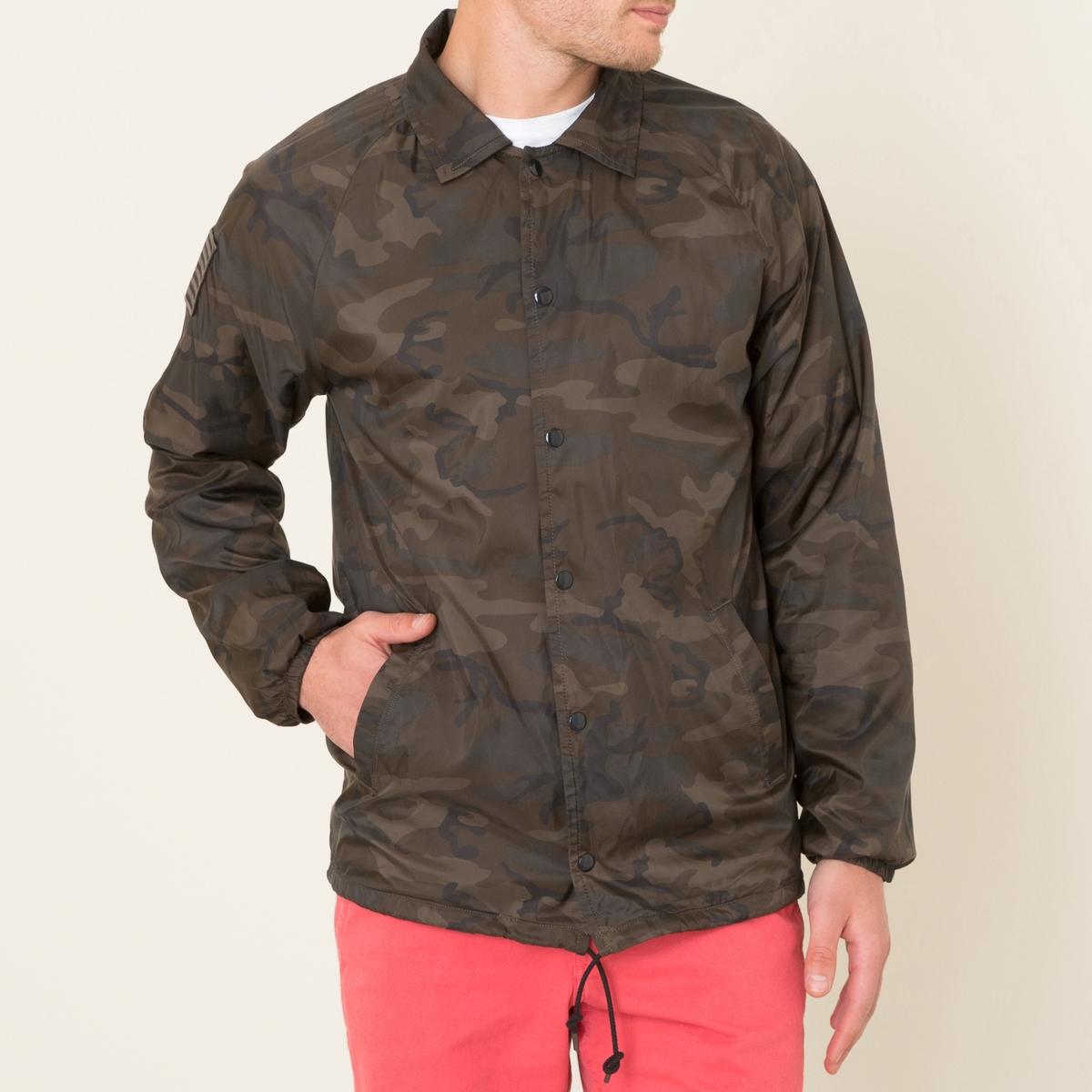 Куртка с камуфляжным рисунком куртка ralph lauren куртки непромокаемые