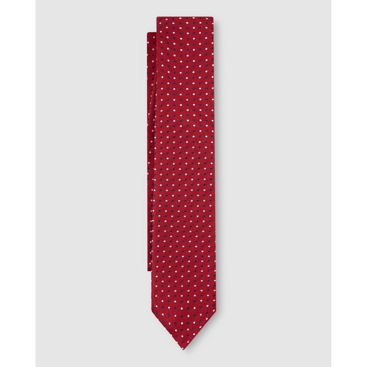 Cravate en soie à motif
