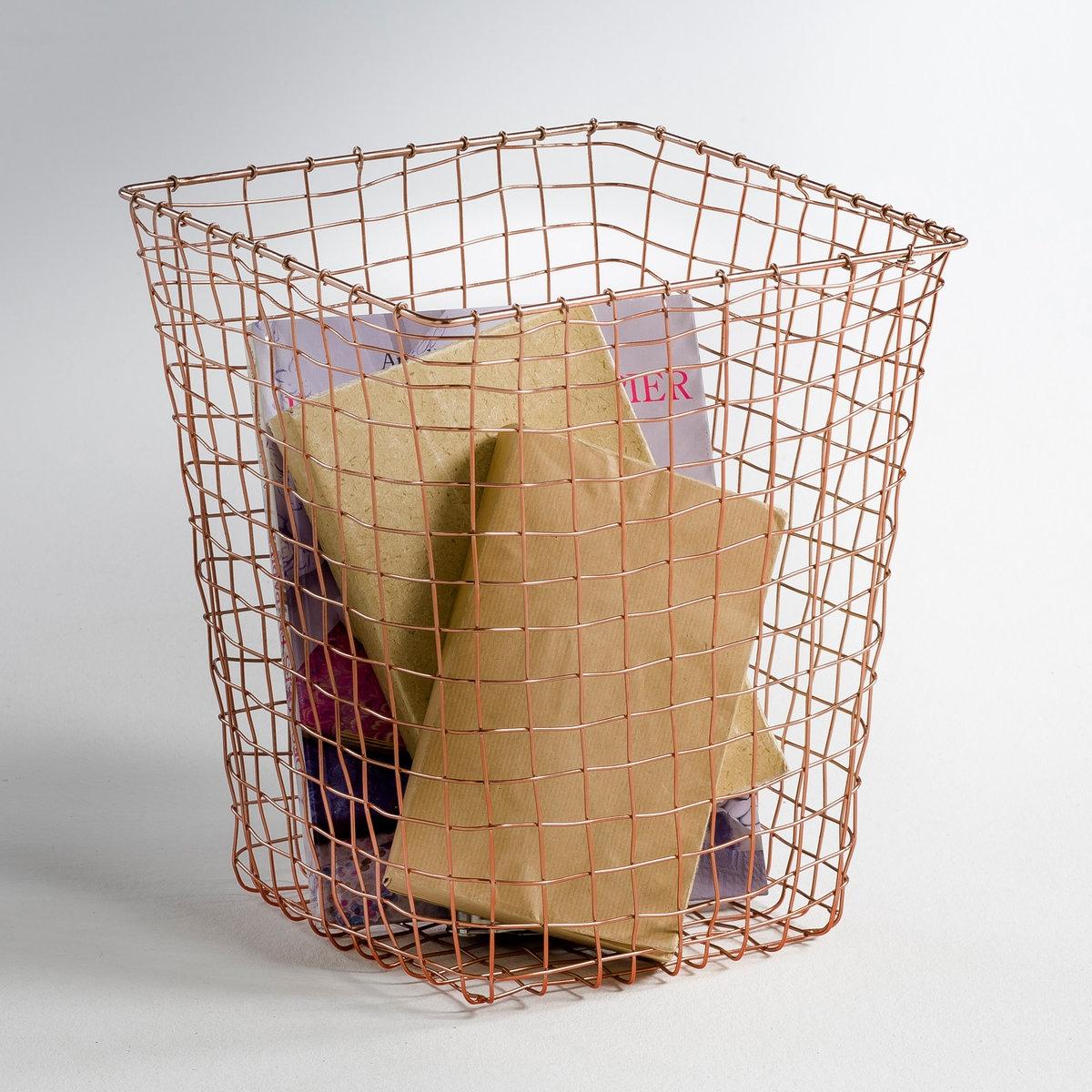 Корзина металлическая  медная , EloriХарактеристики :Металлическая решетка, эпоксидное покрытие медного цвета .Размеры :ОбщиеШирина : 34 см Высота : 25,5 смГлубина : 28,5 см Вся гамма Elori на нашем сайте  .<br><br>Цвет: медный