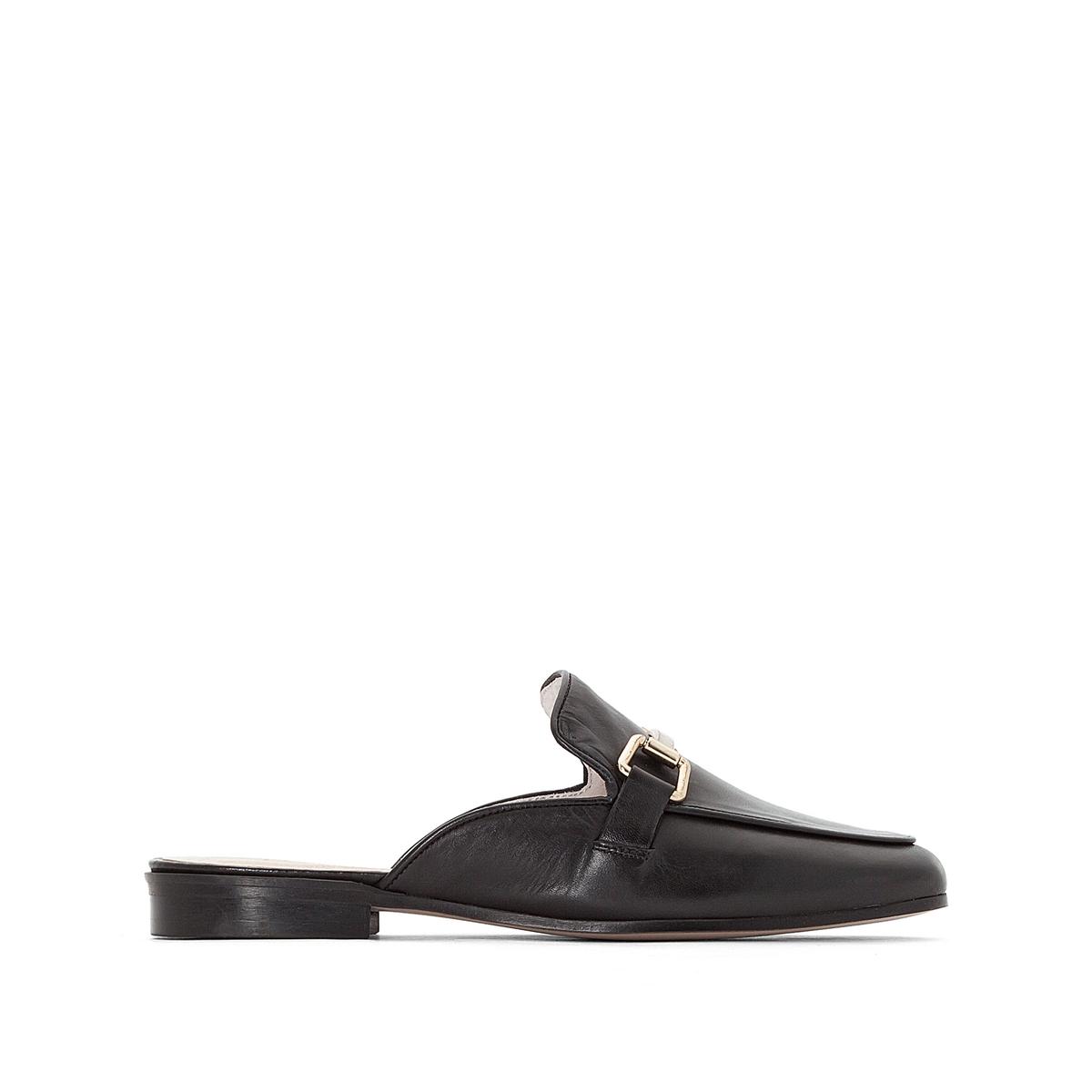 Туфли без задника из кожи  Simone