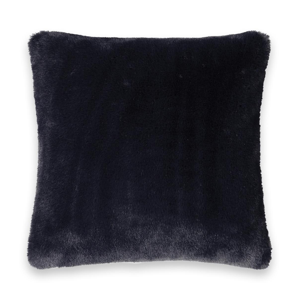 Чехол La Redoute На подушку из искусственного меха Noursi 40 x 40 см синий чехол la redoute на подушку или подушку валик из хлопка scenario 40 x 40 см серый