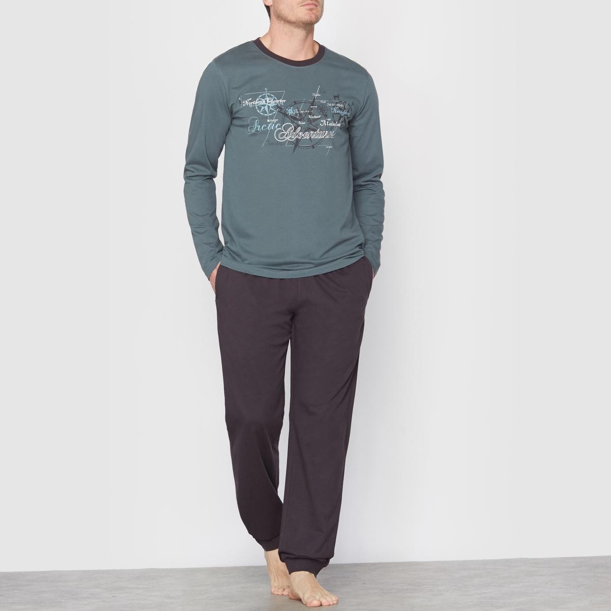 Пижама из хлопкового джерси*Международный лейбл Oeko-Tex® дает гарантию того, что товары не содержат опасных  для здоровья человека или раздражающих кожу веществ.<br><br>Цвет: серо-зеленый/антрацит