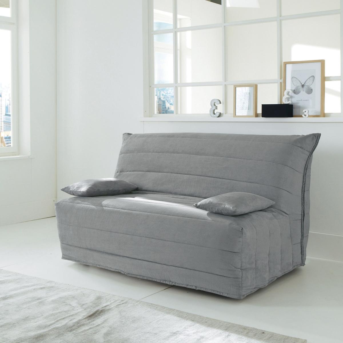 Чехол La Redoute Для дивана-книжки из искусственной замши 160 см серый