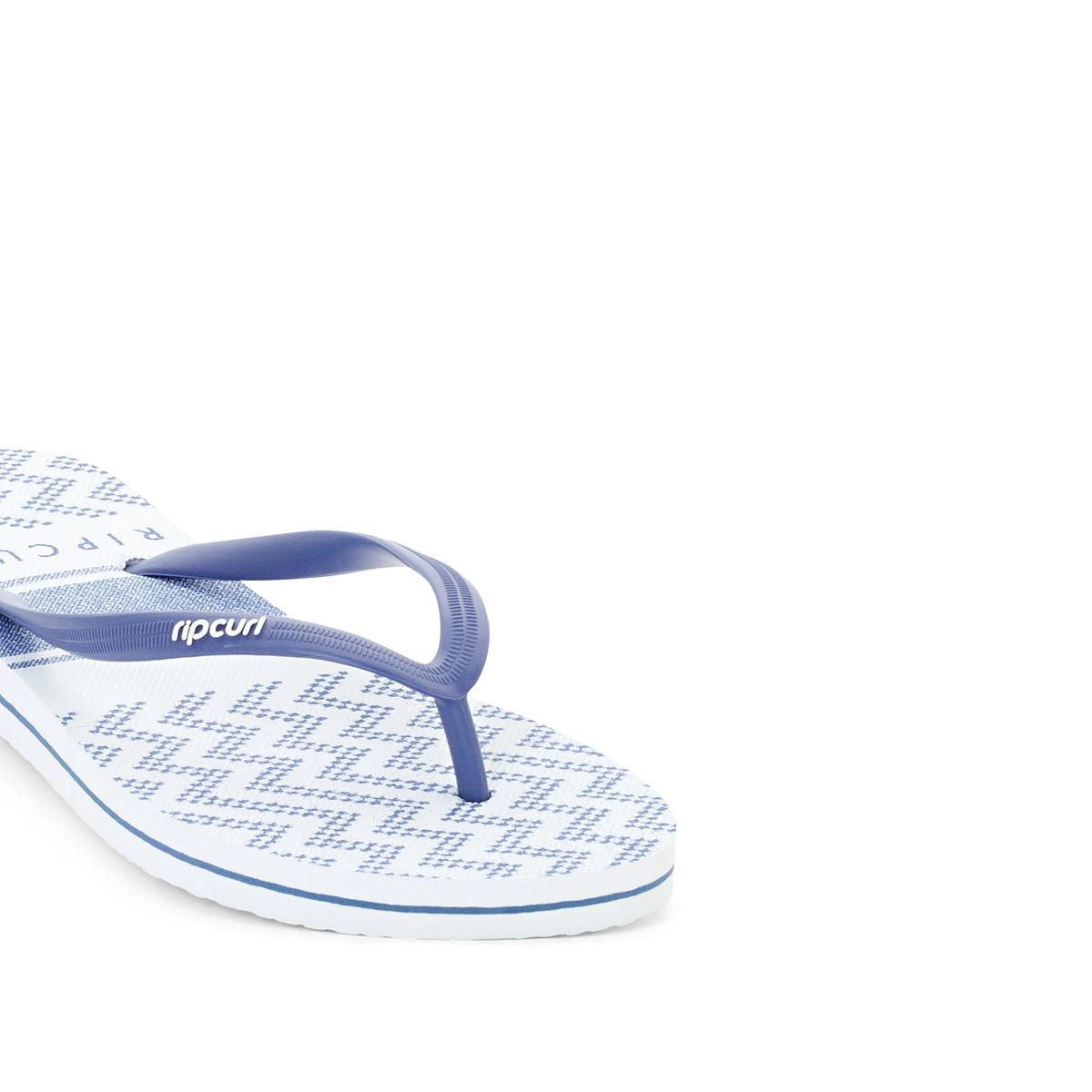 Вьетнамки Del Sol StripeВерх/Голенище : каучук   Стелька : синтетика   Подошва : каучук   Форма каблука : плоский каблук   Мысок : открытый мысок   Застежка : без застежки<br><br>Цвет: темно-синий<br>Размер: 39