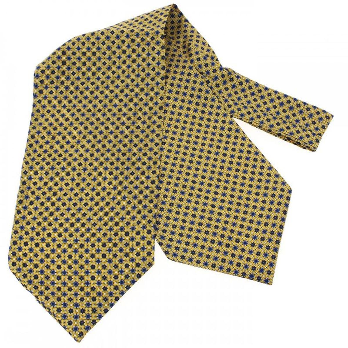 Pierre Louis, Foulard Ascot soie, Classico jaune paille