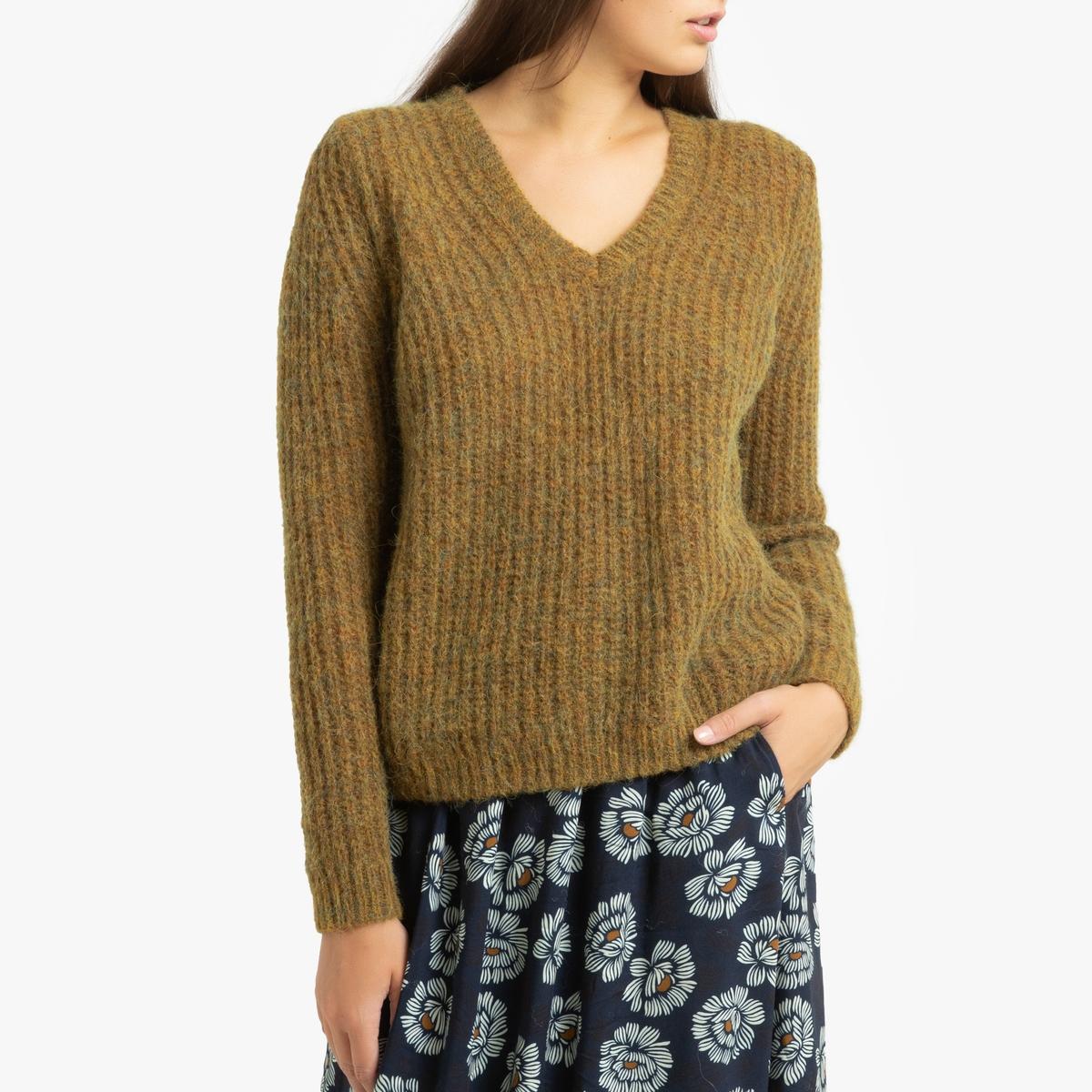 Пуловер La Redoute С V-образным вырезом из плотного трикотажа MISHIMA 3(L) желтый математика 2 класс учебник в 2 х частях часть 1 фгос