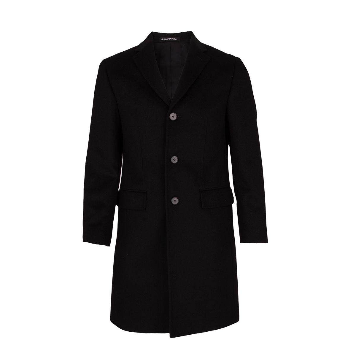Manteau trois Quart 100 % Cachemire Noir