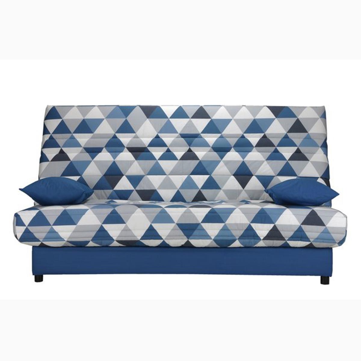 Чехол La Redoute Стеганый для дивана-книжки и складной тумбы гм 140 x 190 см синий