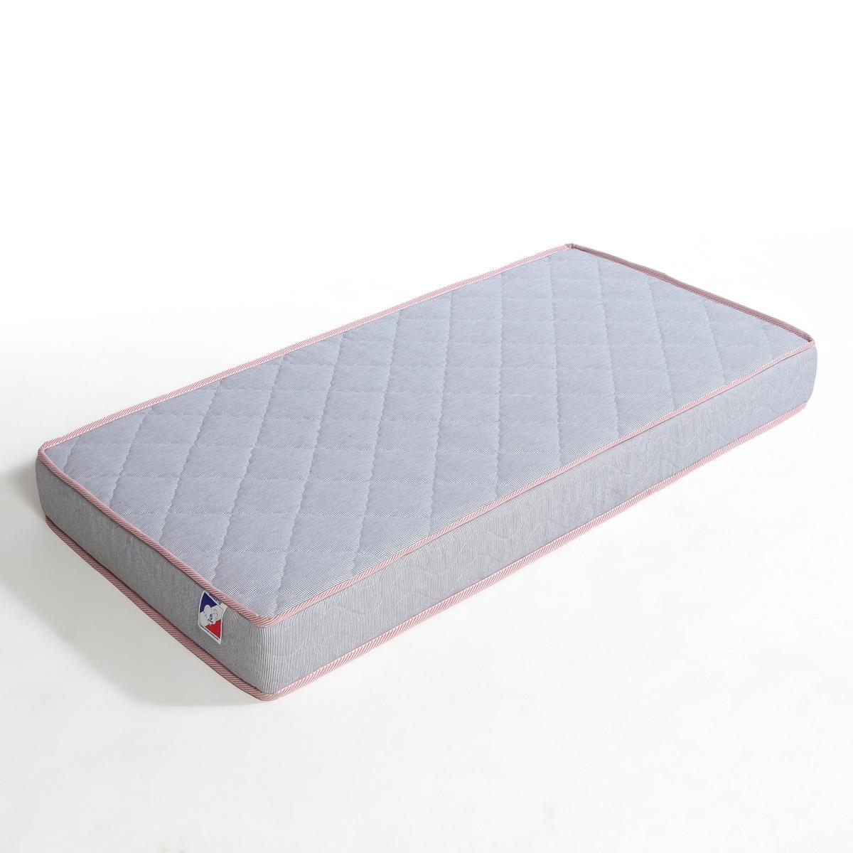 Матрас детскийУдобный матрас для средних кроватей размер 70 x 140 см : Drakar, Castou junior и Popop, которые продаются на нашем сайте .Комфорт :- Сбалансированный комфорт.Характеристики- Из полиэфирного материала плотностью 20кг/м?.Тик<br><br>Цвет: вишневая полоска
