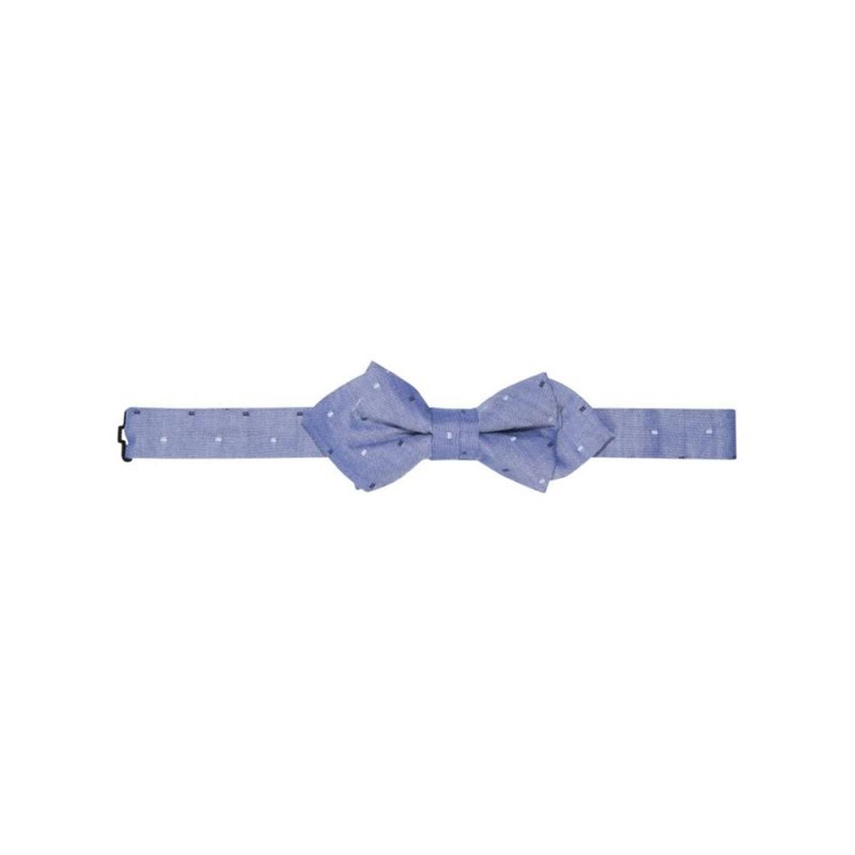 Noeud papillon imprimé bleu