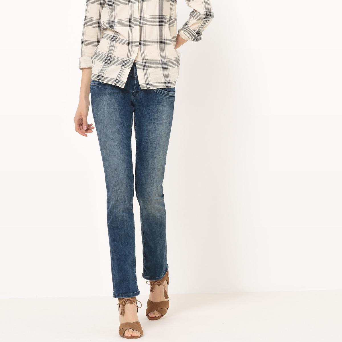 Джинсы базового гардеробаМатериал : 98% хлопка, 2% эластана  Высота пояса : стандартная Покрой джинсов : классический, прямой Длина джинсов : длина 32<br><br>Цвет: синий потертый
