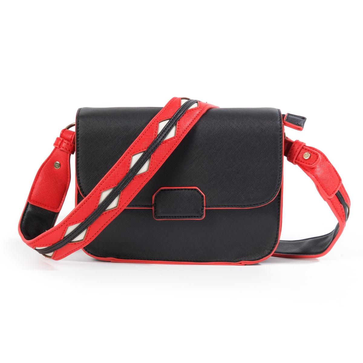Сумка-клатчМини сумка-клатч вмещает по-максимуму: практичная, полезная и модная сумка оригинальных цветов. Состав и описание : Материал : верх из синтетики             подкладка из текстиля Размеры : 22 x 19 x 10 смЗастежка : молния и магнитная кнопка  1 карман для мобильного и 1 карман на молнию<br><br>Цвет: черный<br>Размер: единый размер