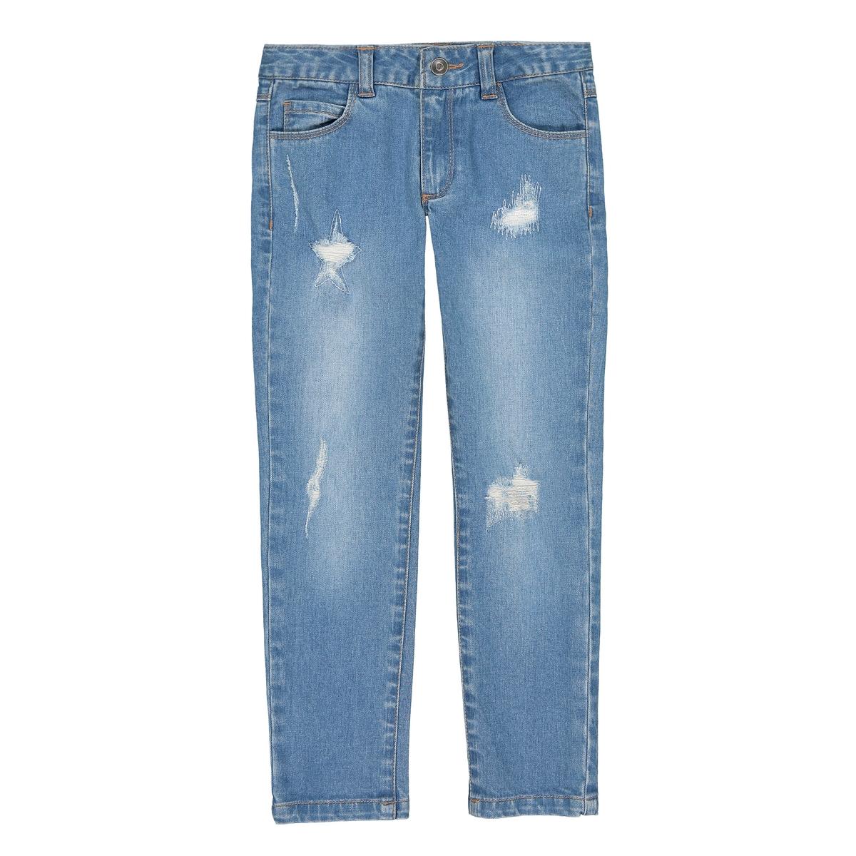 Jeans skinny con effetto used 3-12 anni