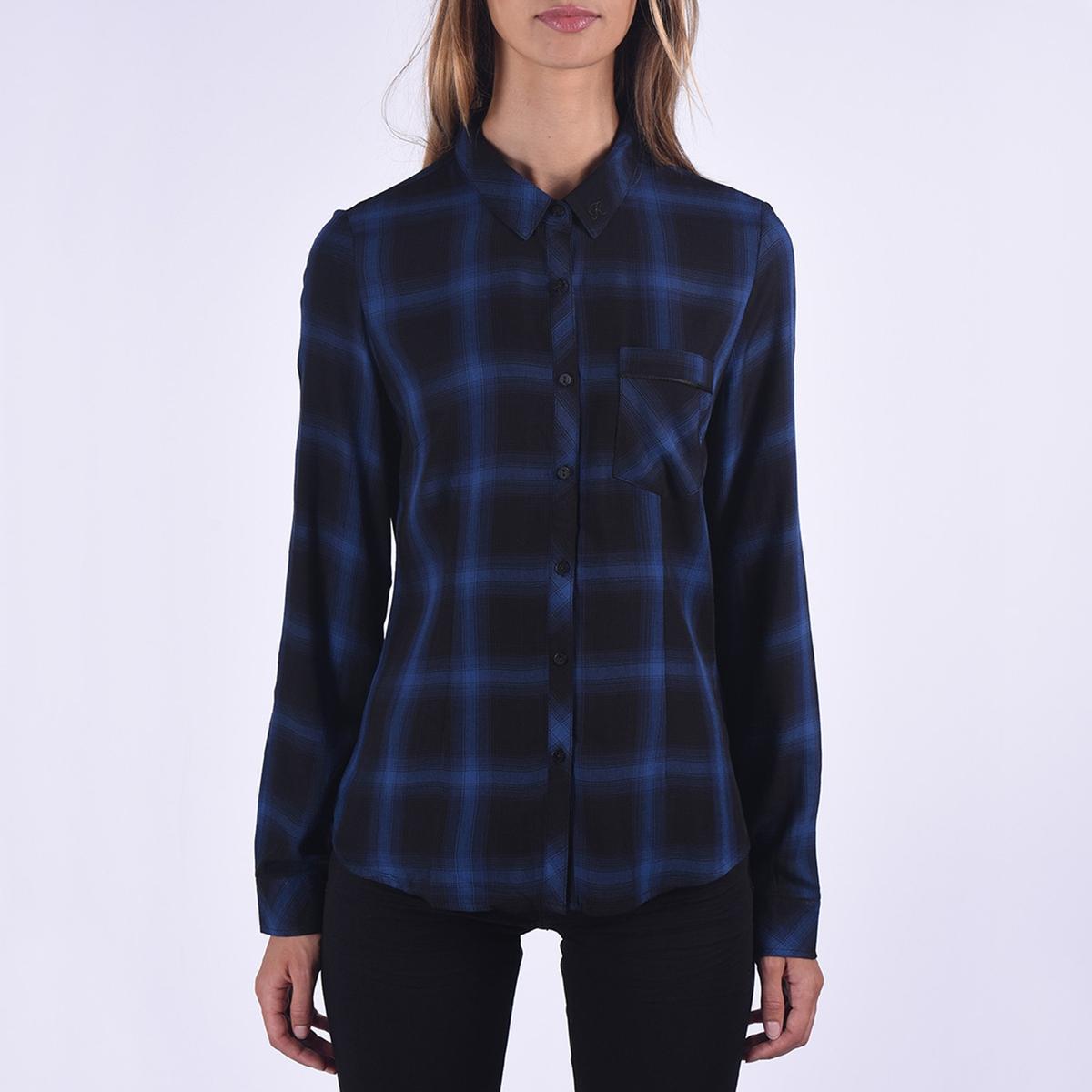 Блузка в клетку с длинными рукавами блузка в клетку с воланами и длинными рукавами check