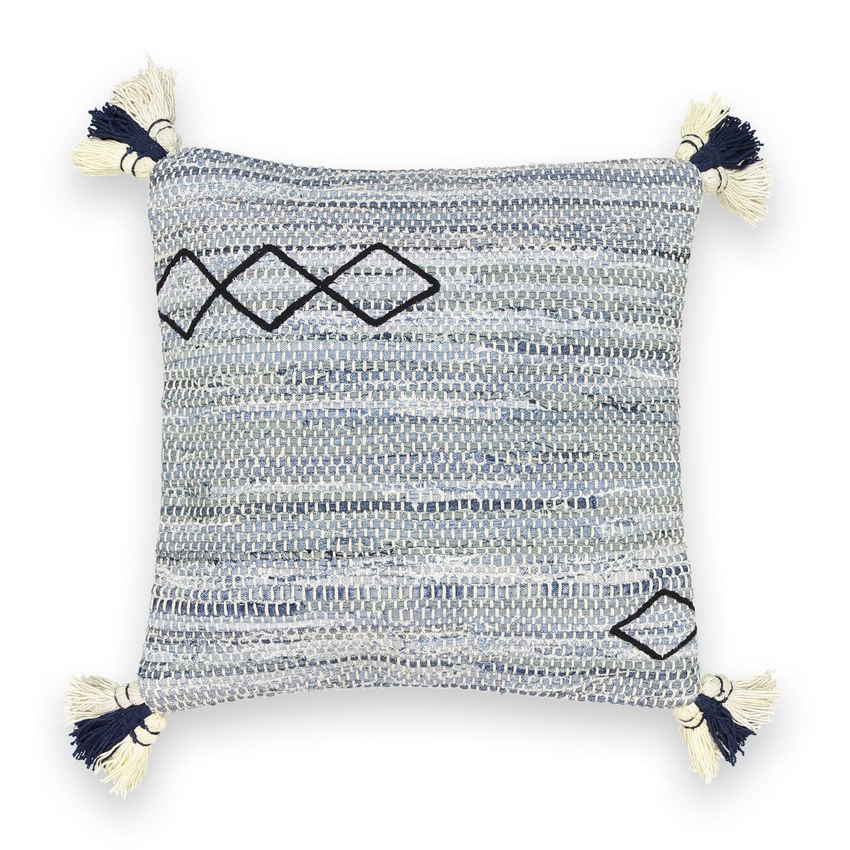 Чехол на подушку-валик из переработанного хлопка, Malacie